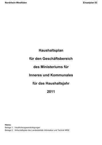 Deckblatt 03 / Vorwort - Finanzministerium NRW