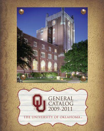 2009-12 OU General Catalog - University of Oklahoma