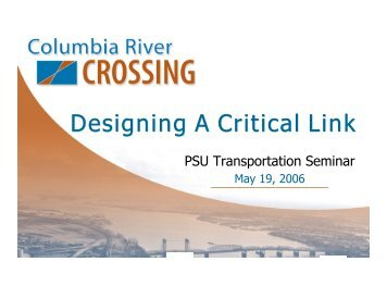 Designing A Critical Link - Center for Transportation Studies