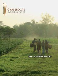 read the new 2011 Annual Report - Grassroots Business Fund