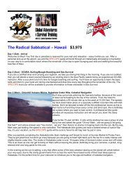 The Radical Sabbatical - Hawaii - Incredible Adventures