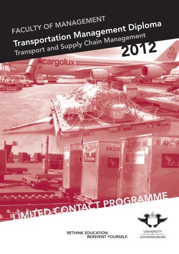 department of transport and supply chain management