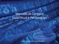 Mercado de Carbono Visão Atual e Perspectivas - Cogen