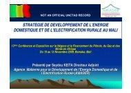 strategie de developpement de l'energie domestique et ... - Unctad XI