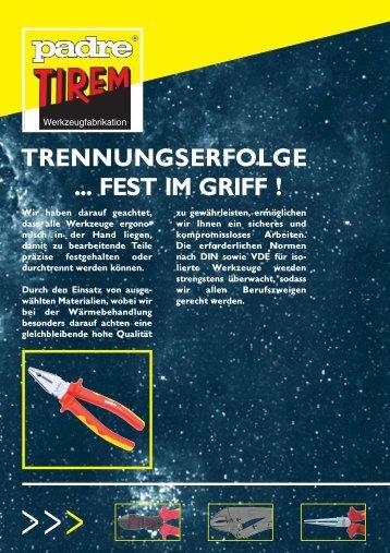 TRENNUNGSERFOLGE ... FEST IM GRIFF ! - ToolVendor