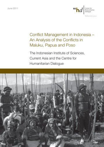Conflict Management in Indonesia – An Analysis of the Conflicts in ...
