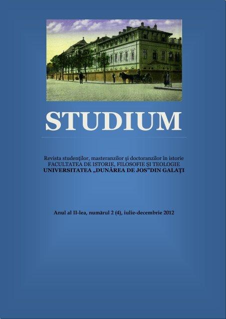 Studium, anul II, nr. 2 (4), 2012 (PDF) - Istorie, Filosofie şi Teologie