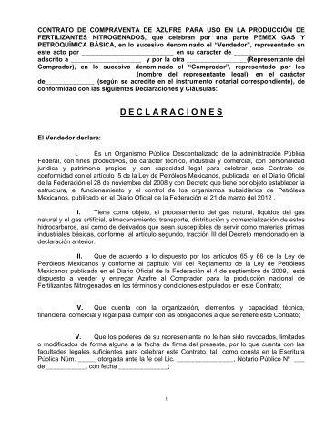 Modelo de Contrato - Pemex Gas y Petroquímica Básica