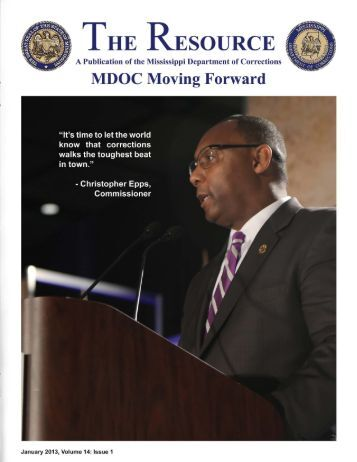 January 2013 Newsletter - Mississippi Department of Corrections