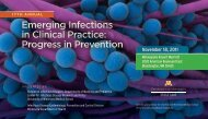 Emerging Infections in Clinical Practice - University of Minnesota ...