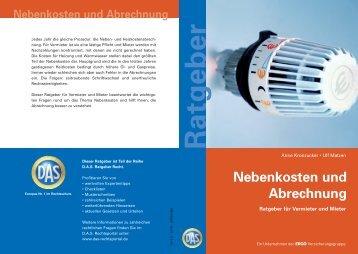 """Ratgeber """"Nebenkosten und Abrechnung"""" - Fiducia IT AG"""