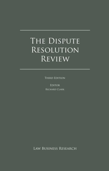 Dispute Resolution Review (Third Edition) - Cayman ... - Appleby