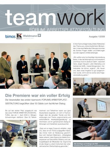 Teamwork Newsletter 1/2009 - Teamwork-arbeitsplatzgestaltung.de