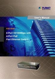 Manual for FSD-804P(V3) - Planet