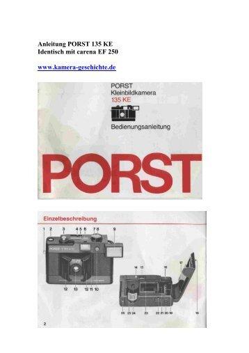 Anleitung - Kamera Geschichte und Photo Porst