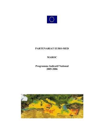Partenariat Euro-Med Maroc Programme Indicatif National 2005-2006