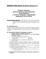 Účtovná závierka, výročná správa a záverečný účet ... - Mesto Šamorín