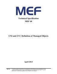 MEF Document Template