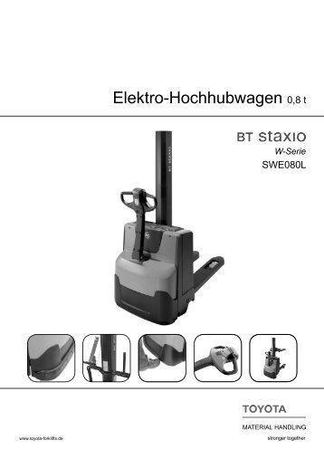 Elektro-Hochhubwagen Staxio SWE080L - Toyota Material Handling ...