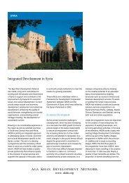 Integrated Development in Syria - Aga Khan Development Network