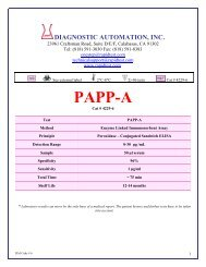 PAPP-A - ELISA kits - Rapid tests