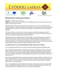Besimokančios organizacijos kūrimas.pdf - Lyderių laikas