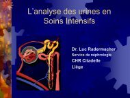 lanalyse des urines en soins intensifs - Service de néphrologie dialyse