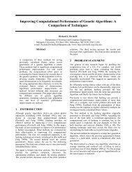 Improving Computational Performance of Genetic Algorithms: A ...