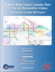 New! System-Wide Transit Corridor Plan for the San ... - Omnitrans