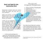Sport und Spiel für das herzkranke Kind - Herzkinder Unterland e.V.