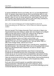 Stellungnahme zum Mitgliederbrief 05/04 - Claus Bredel