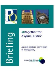 Persecution of Christian Asylum Seekers - International Institute for ...