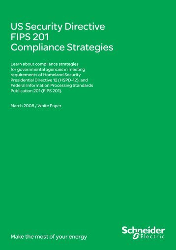US Security Directive FIPS 201 Compliance ... - Schneider Electric