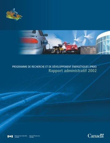 Rapport administratif 2002 - UQAC