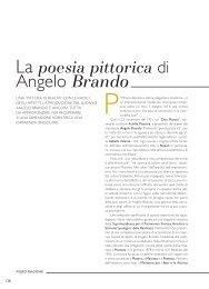 La poesia pittorica di Angelo Brando - Precedente versione del sito