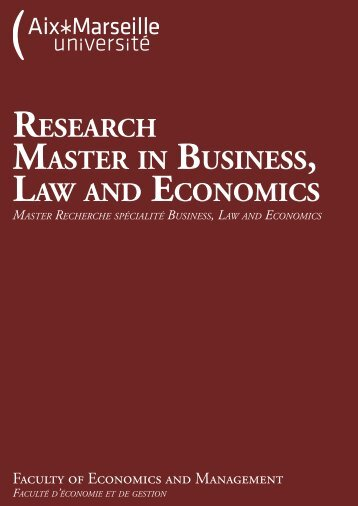 Research Master in Business, Law, and Economics - Cafe Hayek