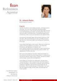 Dr. Antonia Rados - Econ Referenten-Agentur