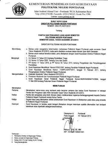 UAS - Politeknik Negeri Pontianak