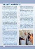 EURES - Ústredie práce, sociálnych vecí a rodiny - Page 6