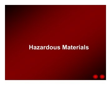 Hazardous Materials - Healthcare Professionals