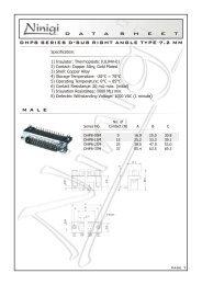 DHP8 SERIES D-SUB RIGHT ANGLE TYPE 7.2 MM M A L E - Ninigi