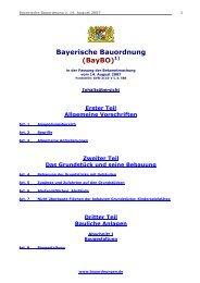 Bayerische Bauordnung (Baybo)1)