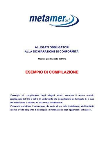 ESEMPIO DI COMPILAZIONE - Metamer