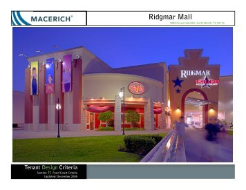 Ridgmar Mall Food Court Criteria - Macerich