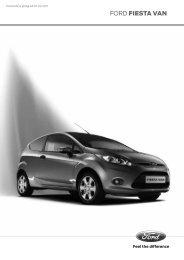 Ford Fiesta Van Preisliste