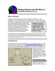 Getting Started with SSI Web Version 3.0 - Sawtooth Software, Inc.