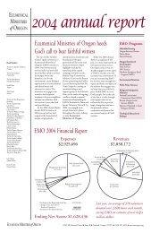 2004 EMO Annual Report - Ecumenical Ministries of Oregon