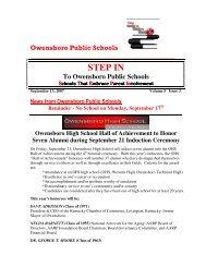 Volume 5 Issue 3 - Sept 13, 2007 - Owensboro Public Schools