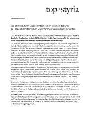 top of styria 2010: Stabile Unternehmen trotzten der Krise – 80 ...