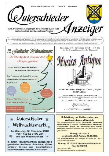 Quierschieder Weihnachtsmarkt - Gemeinde Quierschied